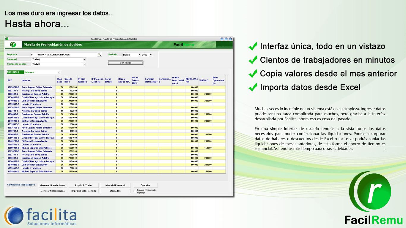 Sistema de Remu de fácil ingreso de datos